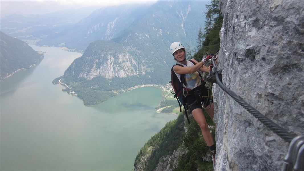 Klettersteig Seewand : Seewand klettersteig mit der thresl
